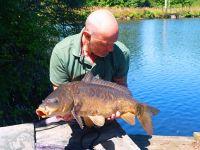 carp caught at Lac de la Grange France
