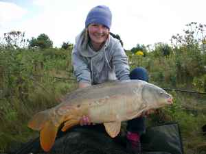 carp caught at Bain Valley Fisheries Lincolnshire