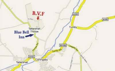 map directions to Bain Valley Fisheries Lincolnshire