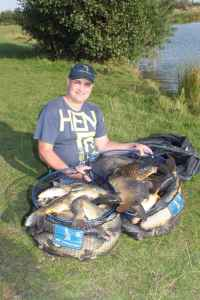 Tony Gregory part of 170lb bag on angling star photo shoot