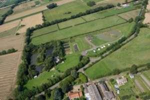 aerial view of Gayton Road Fisheries in Norfolk