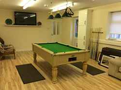 Tansterne Fishery fishing holidays games room